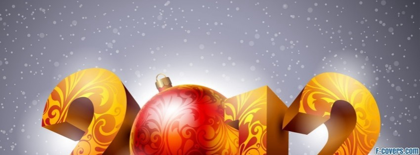 2012 year with christmas facebook cover