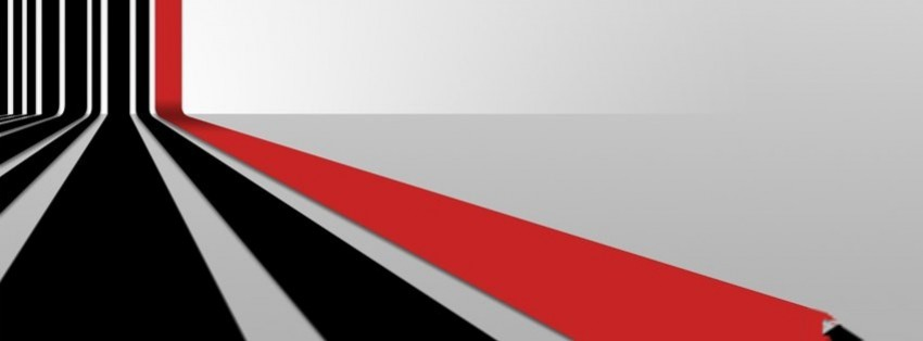 3d black red stripes pattern 30 facebook cover