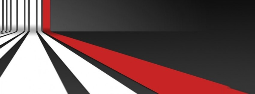 3d red white stripes pattern facebook cover