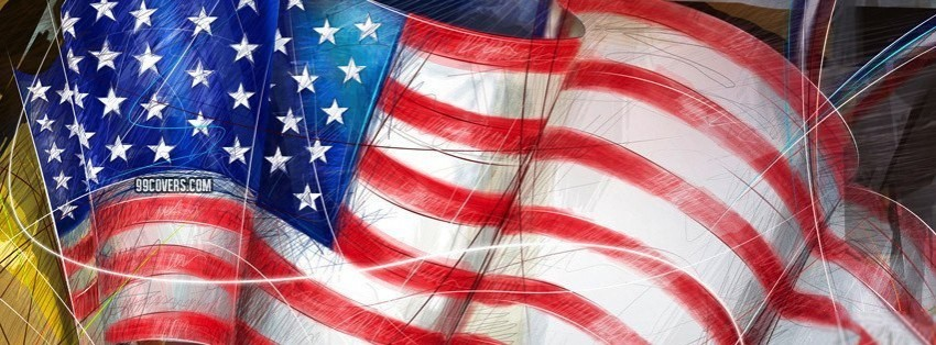 4th July Flag 2 Facebook Cover