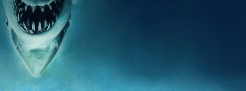 about to be eaten by jaws shark facebook cover