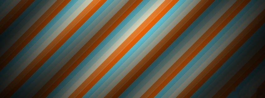 abstract blue orange stripes facebook cover