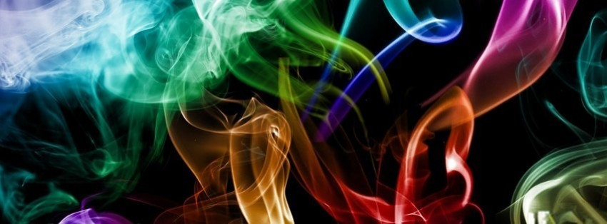 abstract colorful smoke facebook cover