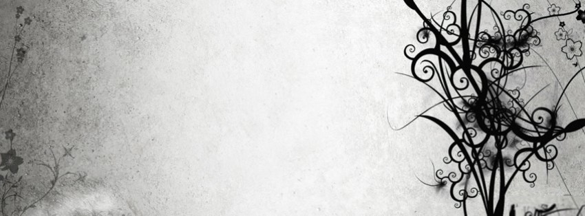 abstract grunge floral facebook cover