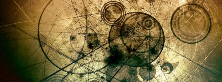 abstract lines and circles facebook cover