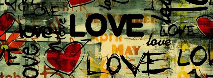 abstract love street art facebook cover