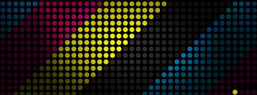 abstract multicolor striped texture dots cmyk facebook cover