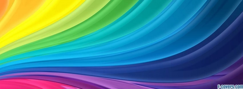 abstract rainbow facebook cover