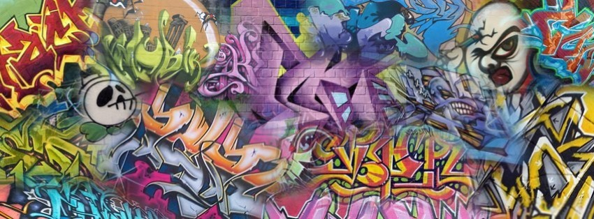 abstract street art 5 facebook cover