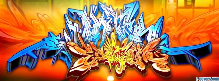 abstract street art 7 facebook cover