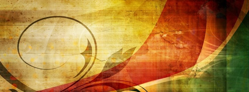 abstract vintage design facebook cover