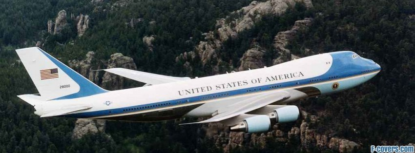 air force one usa plane facebook cover
