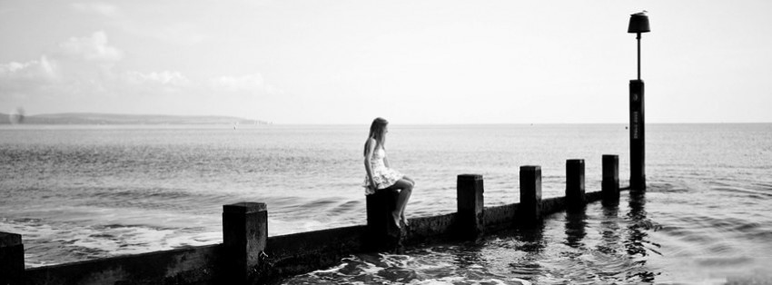 Alone Woman Facebook Cover