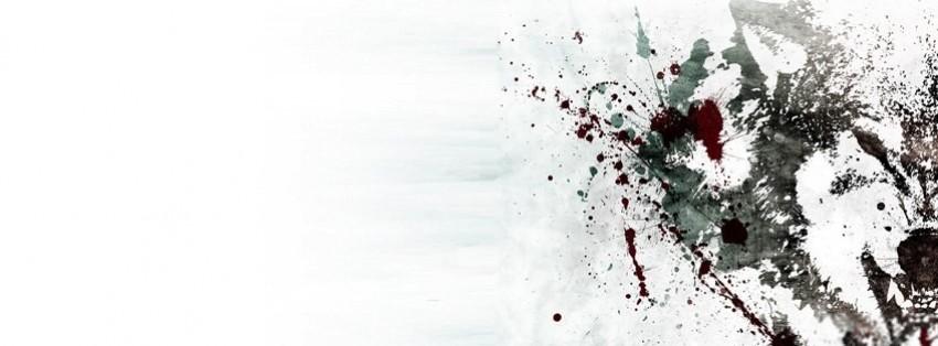 anger splatter wolf facebook cover