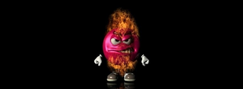 angry m and m facebook cover