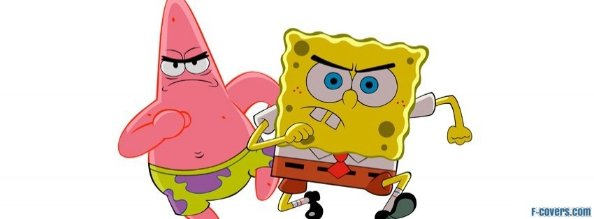 angry spongebob and patrick facebook cover