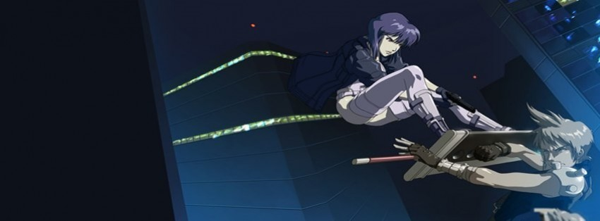 Anime Ghost In The Shell Major Final Fantasy Cloud Facebook Cover Timeline Photo Banner For Fb