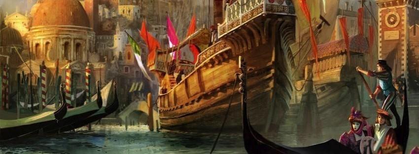 Anno 1404 city building ship boat sea fantasy wallpaper ... | 314x850
