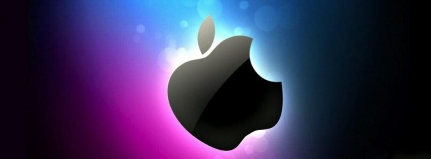 apple logo facebook cover