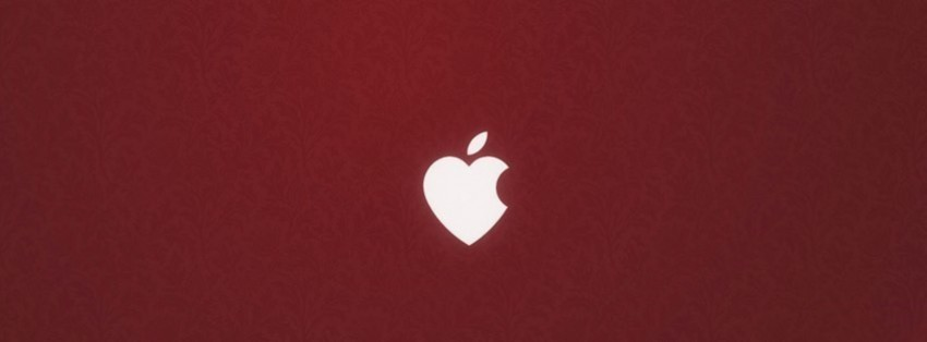 apple love facebook cover