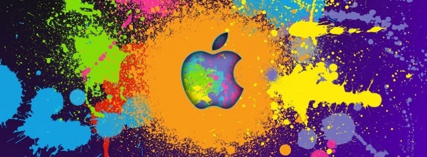 apple paint logo facebook covers
