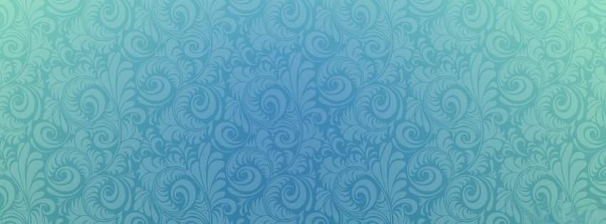 aqua blue floral swirl...