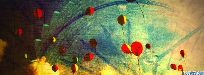 balloons floating facebook cover