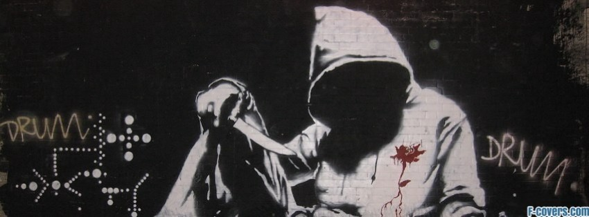 banksy street art 23 facebook cover