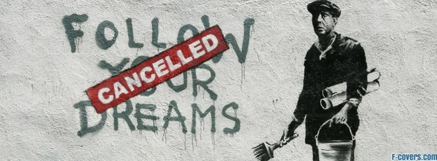 banksy street art facebook cover