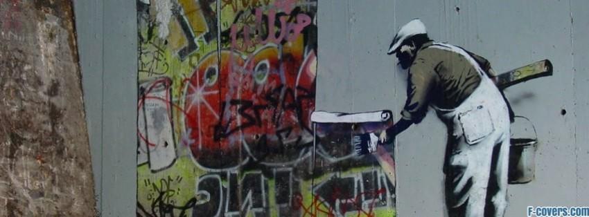 Banksy Street Art Graffiti Wallpaper Facebook Cover Timeline