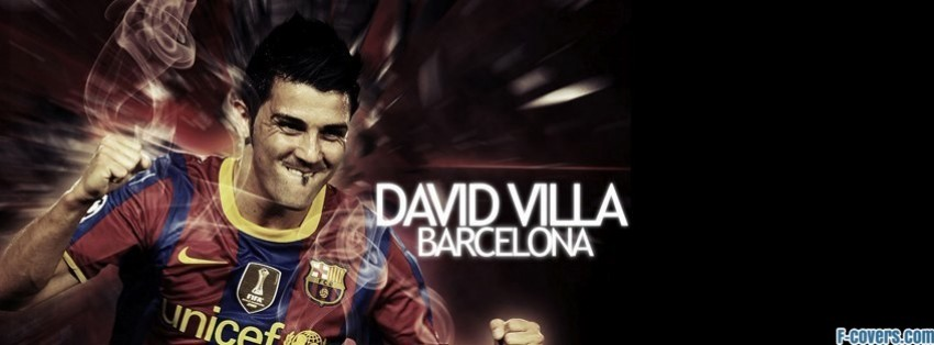 barcelona david villa facebook cover