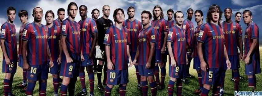 barcelona team facebook cover