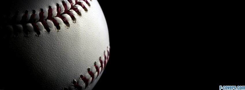 baseball close up facebook cover