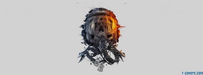 battlefield skull facebook cover