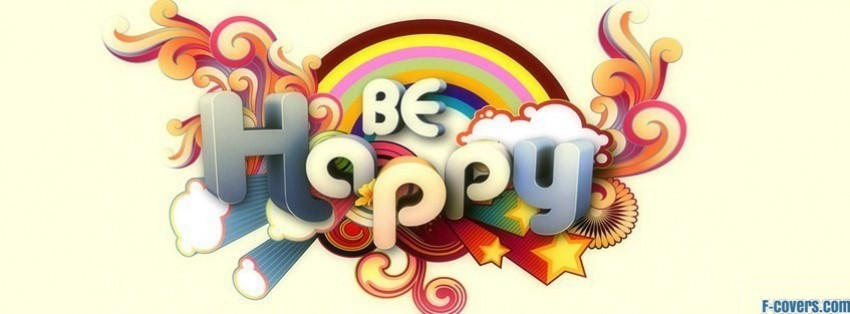 be happy custom font facebook cover