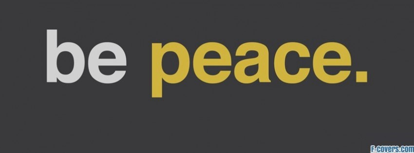 be peace facebook cover