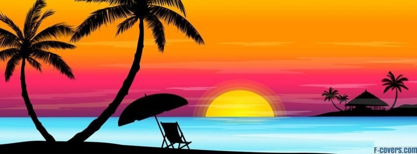 Beach Facebook Banner Beach Sunset Facebook Cover