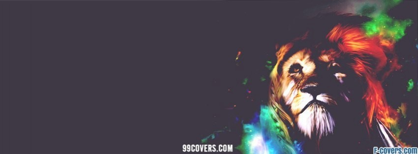 beautiful abstract lion facebook cover