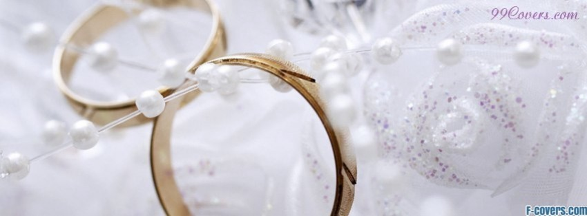 beautiful wedding rings facebook cover