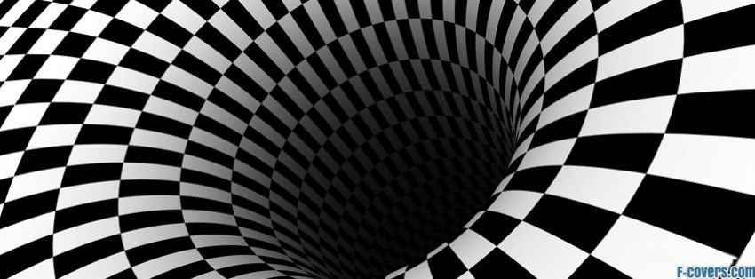 black hole checkered vortex optical illusions facebook cover