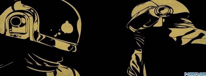 black space music tan daft punk helmet techno facebook cover