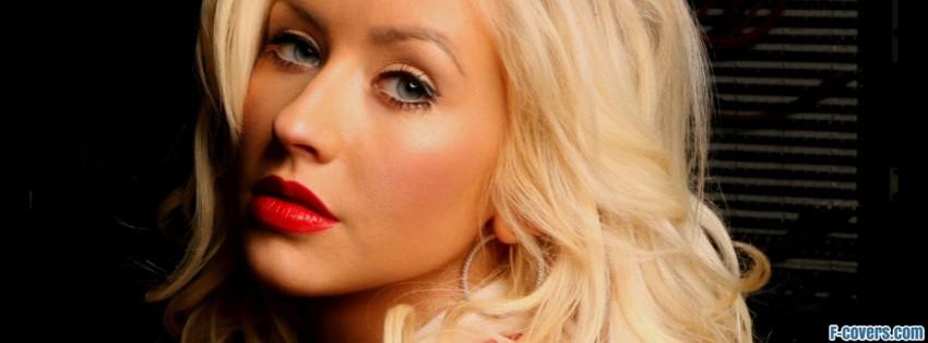 blonde christina aguilere facebook cover