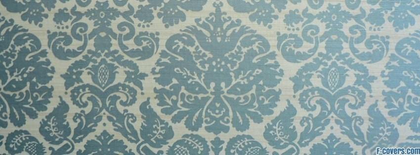 blue floral pattern facebook cover timeline photo banner for fb