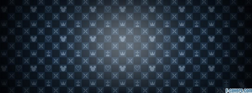 blue mickey checkered pattern facebook cover