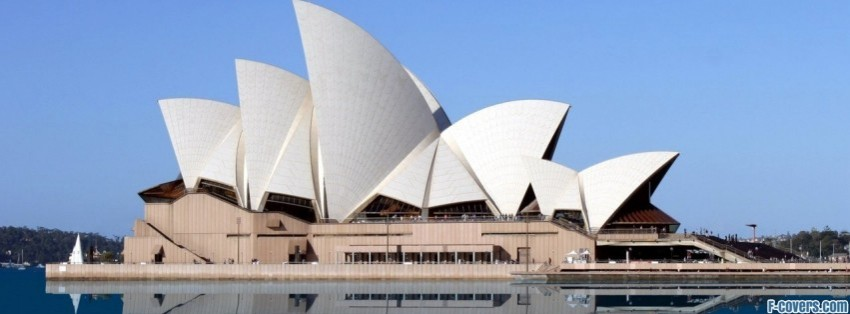blue sky sydney opera house facebook cover