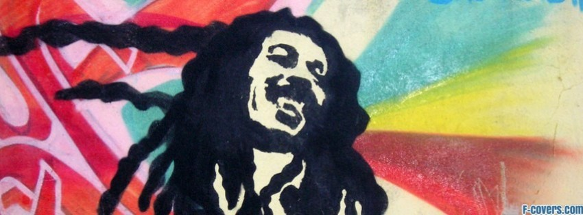 bob marley street art facebook cover