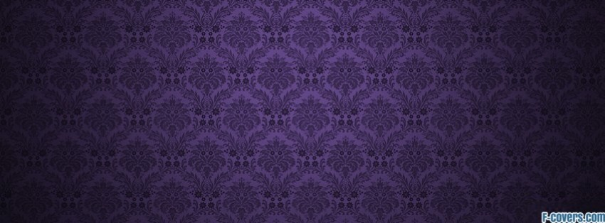bossanova and black damask pattern facebook cover