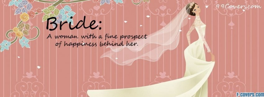 bride with happiness behind her facebook cover