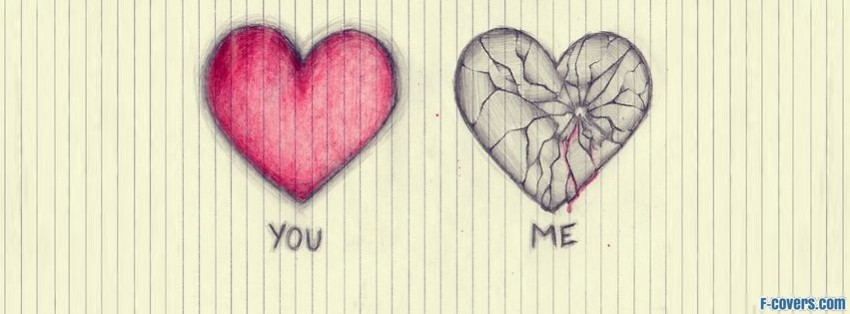 broken heart facebook cover