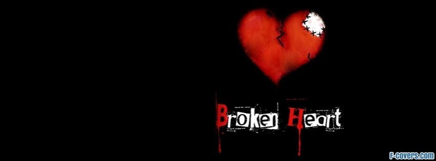 broken heart one facebook cover